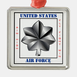Air Force Lieutenant Colonel LTC O-5 Slogan Metal Ornament