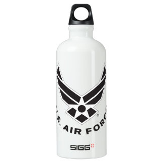 Air Force Logo - Black Water Bottle