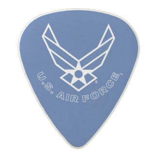 Air Force Logo - Blue Acetal Guitar Pick