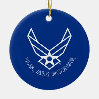 Air Force Logo - Blue Ceramic Ornament