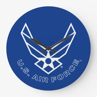 Air Force Logo - Blue Large Clock