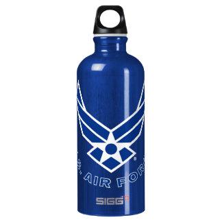 Air Force Logo - Blue Water Bottle
