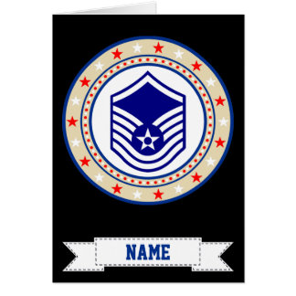 Air Force Master Sergeant MSgt E-7 Card