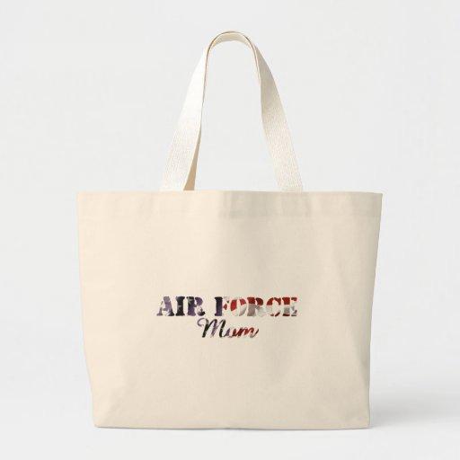 Air Force Mom American Flag Tote Bags