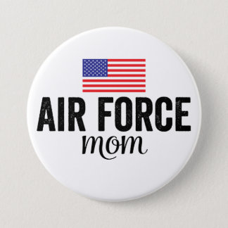 Air Force Mom American Flag Button
