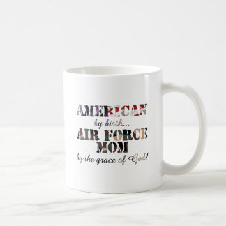 Air Force Mom Grace of God Basic White Mug