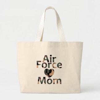 Air Force Mom Heart Camo Bag