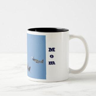 Air Force Mom Two-Tone Mug