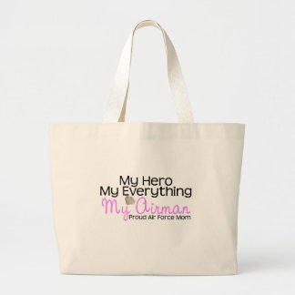 Air Force Mom My Hero Canvas Bags