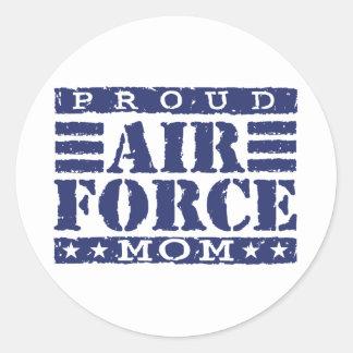 Air Force Mom Round Sticker