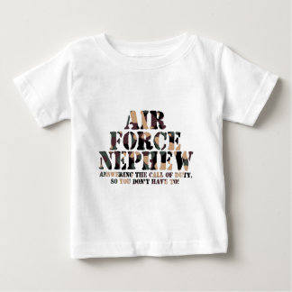 Air Force Nephew Answering Call Baby T-Shirt