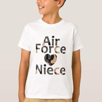 Air Force Niece Heart Camo T-Shirt