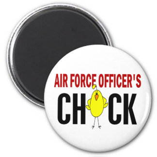 Air Force Officer's Chick 2 Inch Round Magnet
