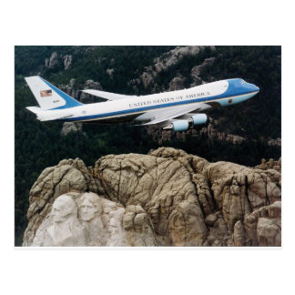 Air Force One above Mount Rushmore Postcard