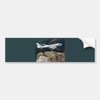 Air Force One over Mt. Rushmore Bumper Sticker