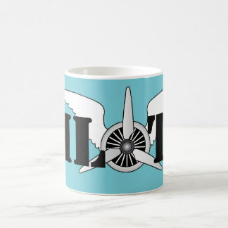 Air Force Pilot Aviation Themed Aircraft Propeller Coffee Mug