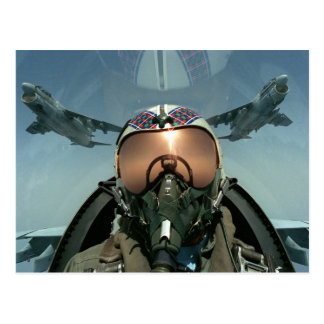 Air Force pilot Postcard