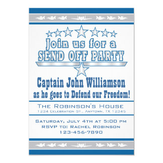 Air Force Send Off Deployment Party Invitation