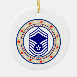 Air Force Senior Master Sergeant E-8 SMSgt Ceramic Ornament