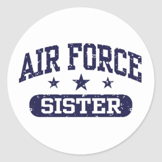 Air Force Sister Round Sticker