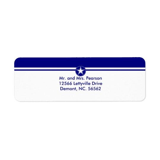 Air Force Star Return Address Label