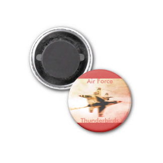 Air Force Thunderbirds Close Pass 1 Inch Round Magnet