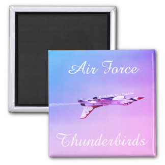 Air Force Thunderbirds Inverted Maneuver Square Magnet