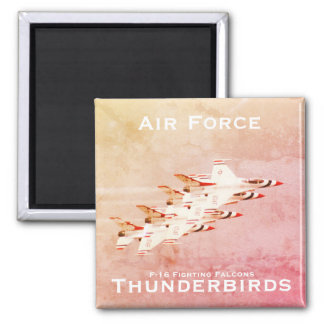 Air Force Thunderbirds Tight Formation Maneuver Square Magnet