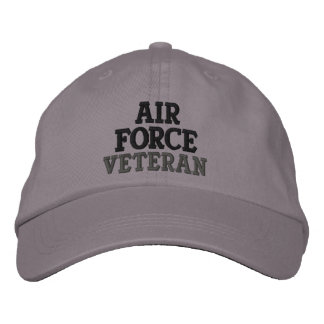 Air Force Veteran Military Embroidered Hats