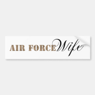 Air Force Wife Bumper Sticker
