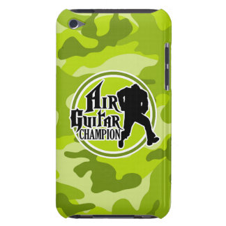 Air guitar drôle camo vert clair camouflage coques barely there iPod