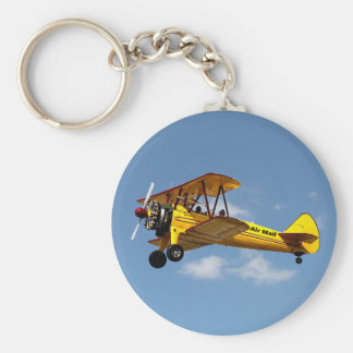 Air Mail Biplane Keychain