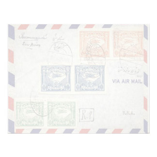 Air Mail Envelope Letterhead