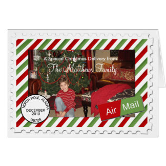 Air Mail Holiday  Photo Christmas Cards