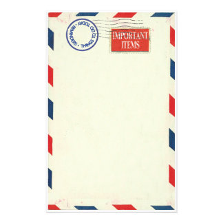 air mail stationery