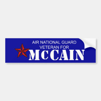 Air Nat Guard Vet for McCain Bumper Sticker