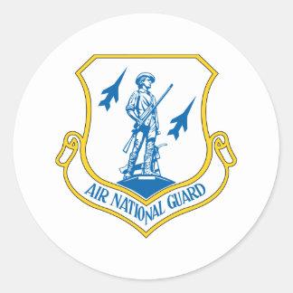 Air National Guard Round Sticker