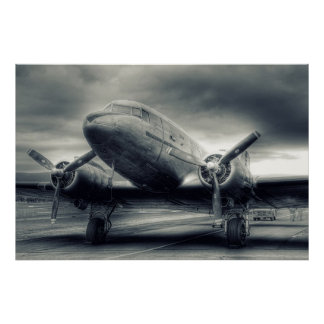 Air Plane Aviation Dakota DC-3 Poster