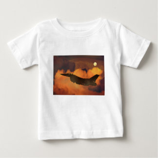 Air Plane Fighter Night Sky Moon Clouds Aircraft Baby T-Shirt