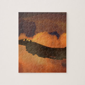 Air Plane Fighter Night Sky Moon Clouds Aircraft Jigsaw Puzzle