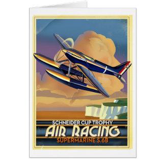 Air race plane card