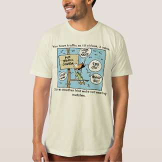 Air Traffic Control Cartoon Humour T-Shirt
