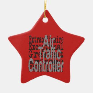 Air Traffic Controller Extraordinaire Ceramic Ornament