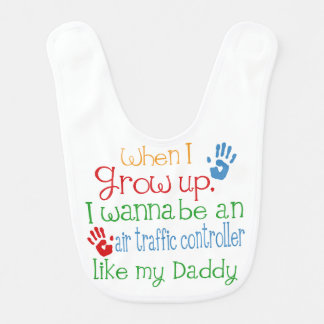 Air Traffic Controller Like My Dad Baby Bib