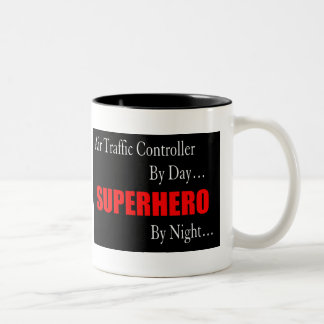 Air Traffic Controller Superhero Two-Tone Coffee Mug