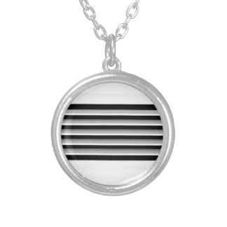 Air vent silver plated necklace