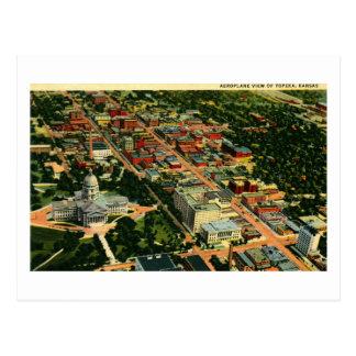 Air View of Topeka, Kansas Vintage Postcard
