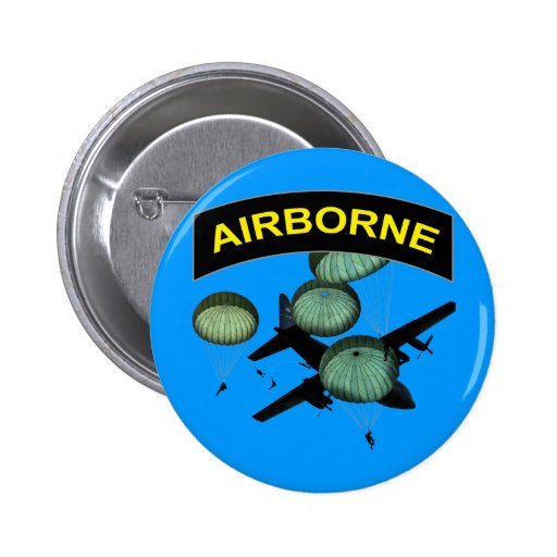 Airborne 2 pinback button