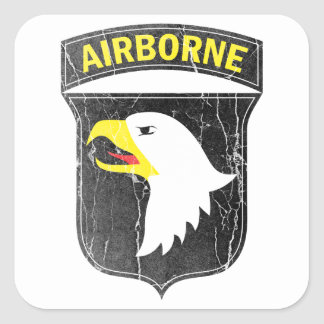 Airborne army 101 Screaming Eagle Square Sticker