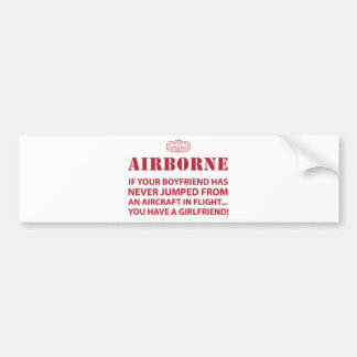 AIRBORNE BUMPER STICKER